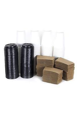 50 Set 16 Oz. Disposable Coffee Cups Sleeves