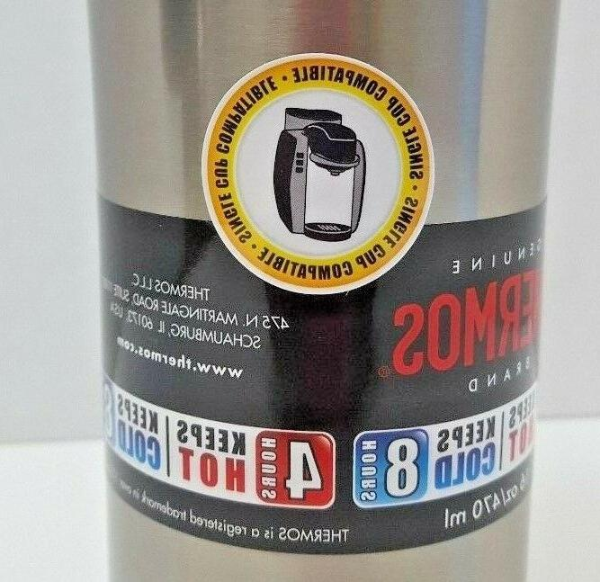 Thermos Insulated Travel Steel- Lid & Handle