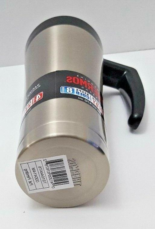 Thermos Insulated Mug Stainless Steel- Black Lid Handle