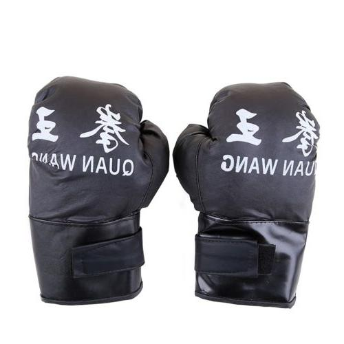 16 OZ BOXING PRACTICE TRAINING GLOVES Sparring Faux Leather