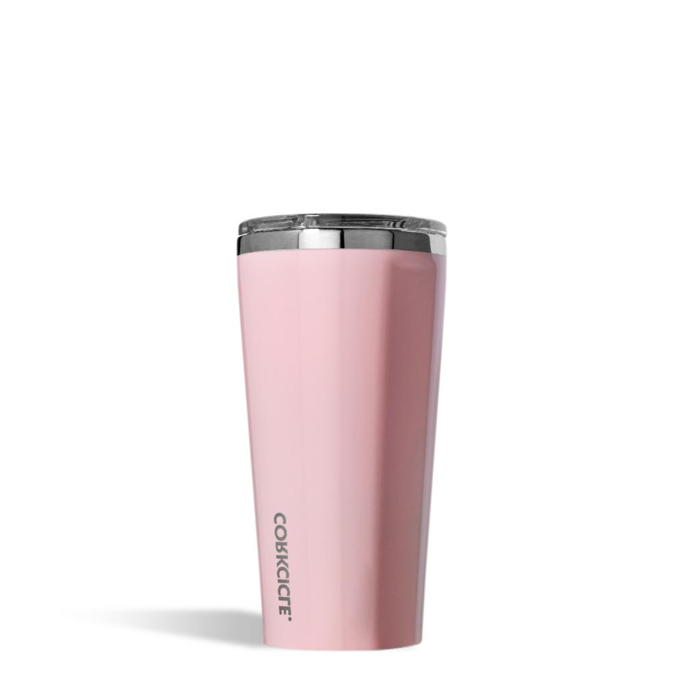 16 oz insulated classic tumbler gloss rose