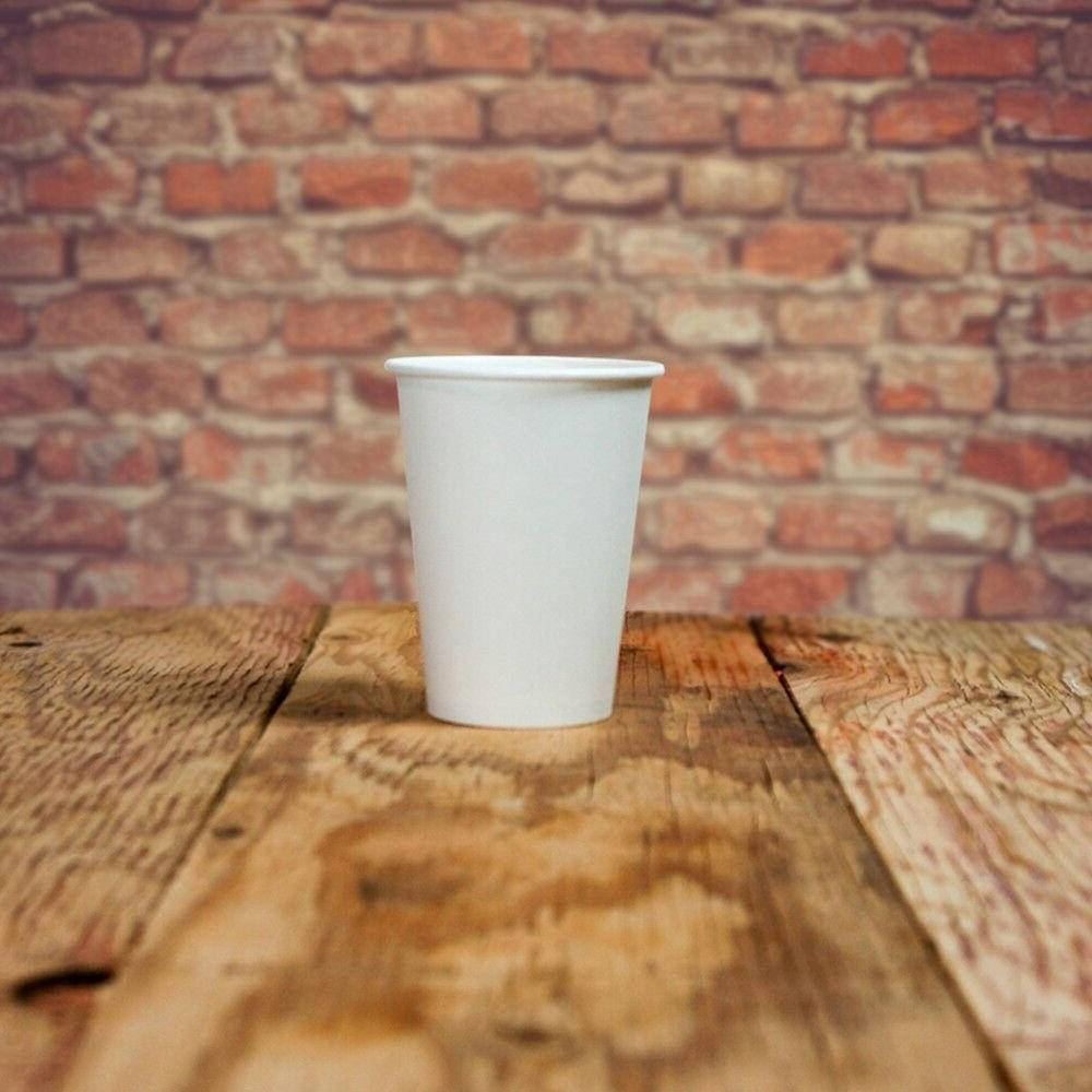 16 oz paper coffee cups white hot