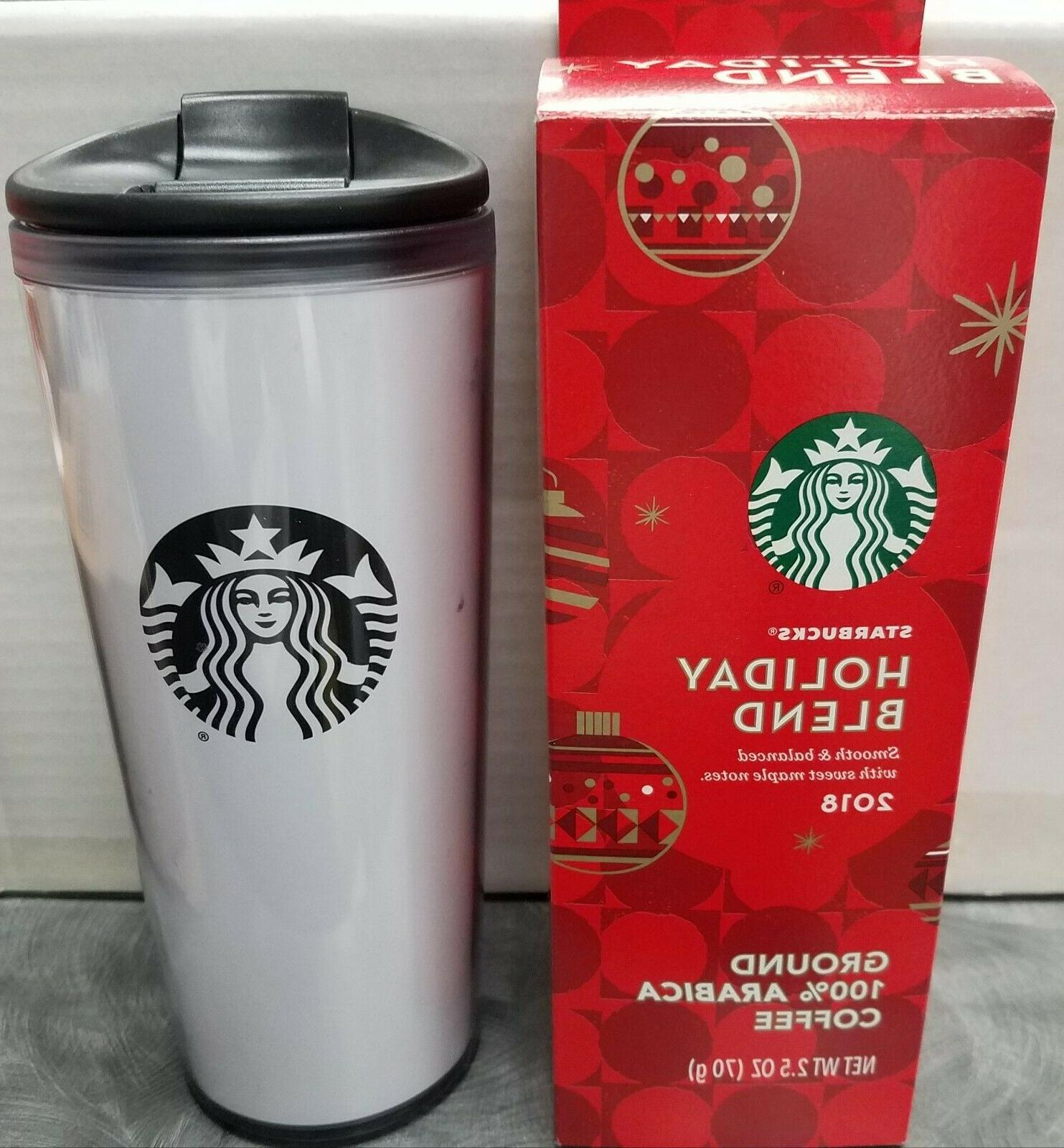 16 oz plastic travel mug tumbler white