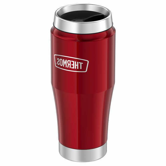 Thermos 16 oz Insulated Stainless 2 Locking Lids