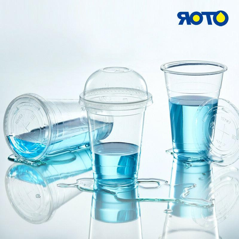 OTOR Plastic Cups and Lids - 50