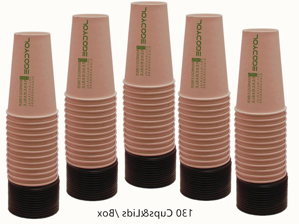 16OZ Coffee 100% Bamboo Cups-With 130