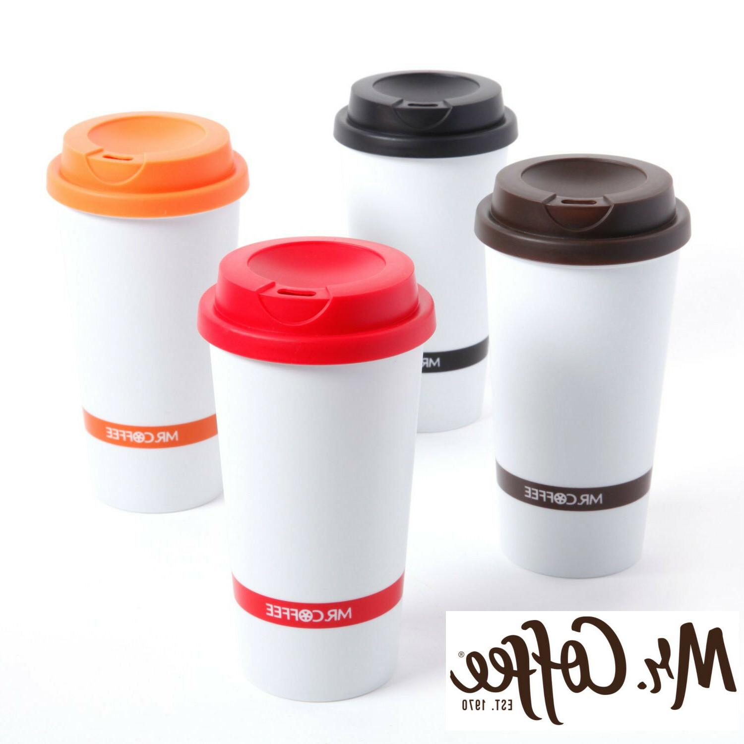 16oz double wall insulated travel mug coffee