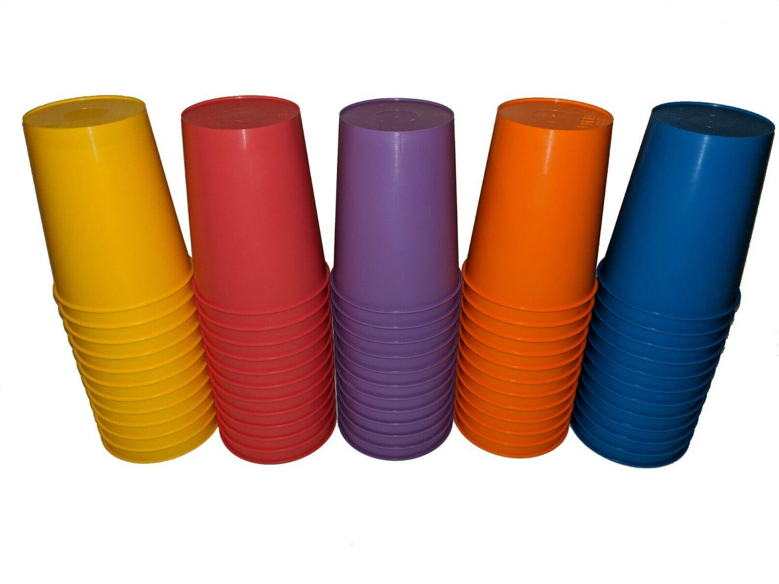 16oz Plastic Cups, 12 Pack Unbreakable Cups for Parties, or