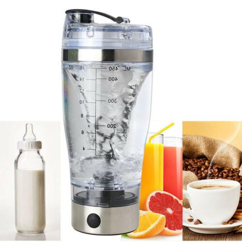 16oz usb rechargeable electric protein shaker bottle