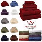 6 Piece Bath Towel Set 100% Egyptian Cotton 725 Gram 10 Colo