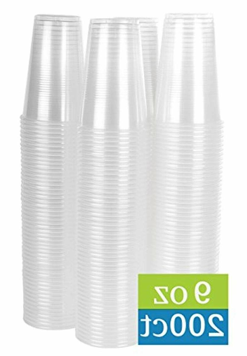 9 oz clear plastic cups 200 count