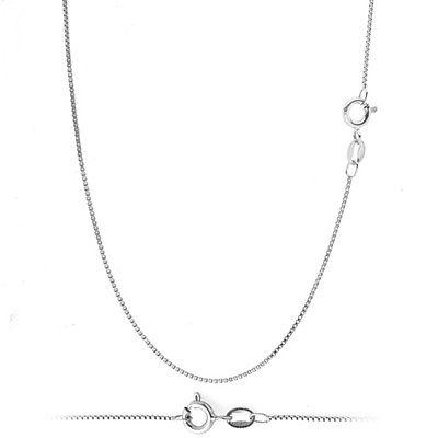 925 Solid Sterling Silver .8mm Thin Box Chain Necklace for P