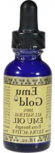 Emu Gold Emu Oil Pure Grade Ultra 1 Oz