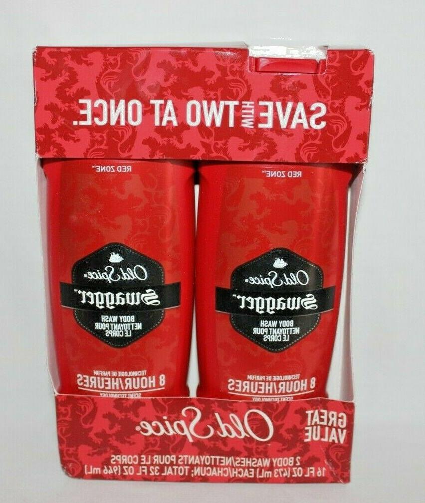 Old Spice Red Zone Swagger Scent Men's Body Wash Twin Pack 3