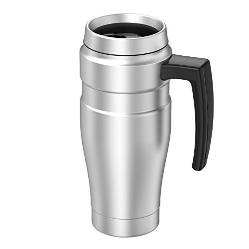 Thermos Stainless 16 Ounce Travel Mug, Steel