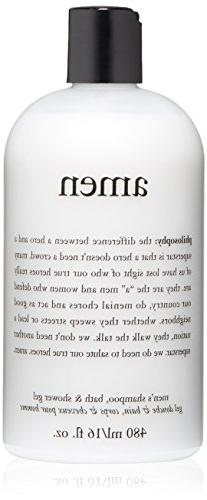 philosophy for men Amen Men's Shower Gel, 16 fl. oz.