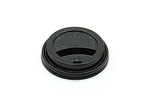 black disposable thermo lids
