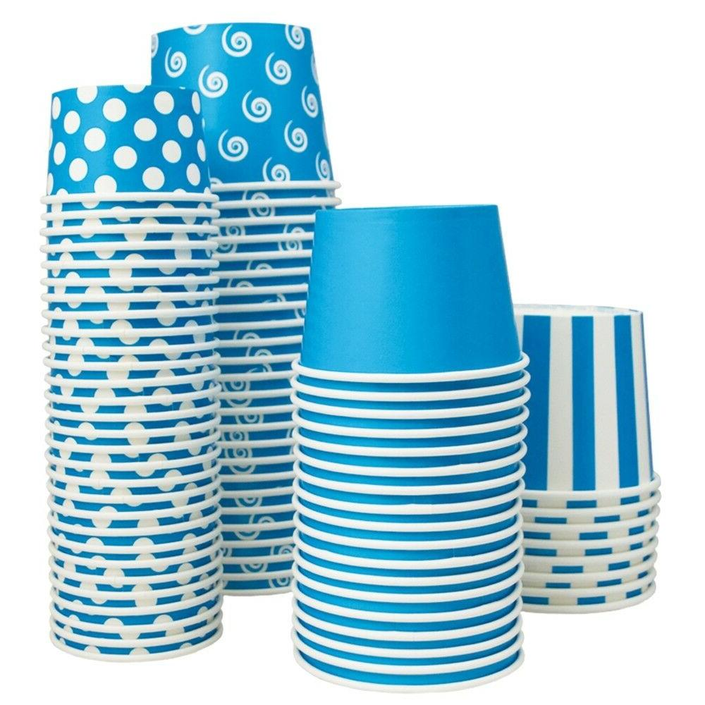 Striped Disposable Birthday Cups