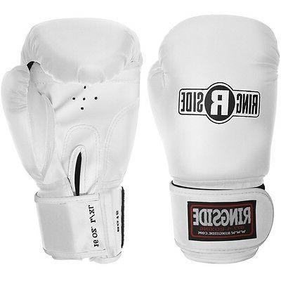 boxing striker training gloves white