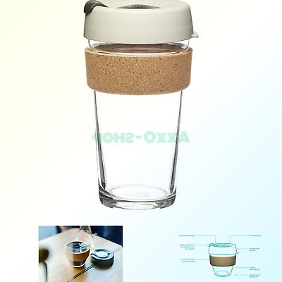 brew glass reusable coffee cup 16 oz