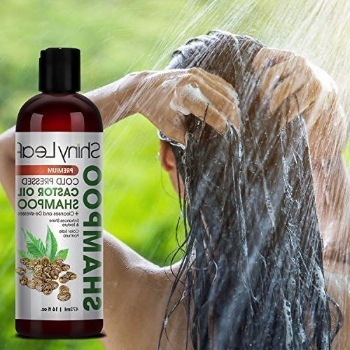 Shiny Cold Pressed Castor Oil – Premium Hair Shampoo with Cold Oil, All Hair Types, Hair, Hair Soft Smooth,
