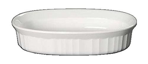 corning ware french white oval