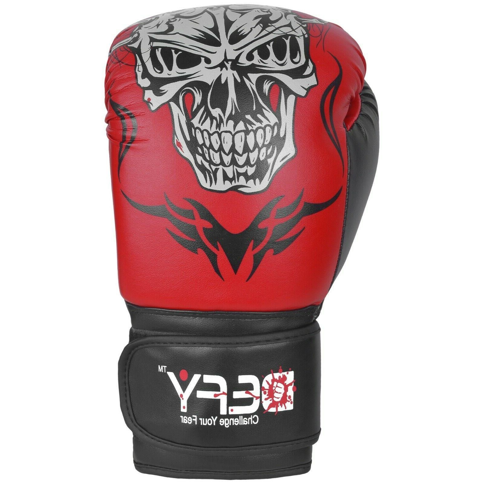 DEFY® Boxing Gloves Leather Punch Fight UFC Red