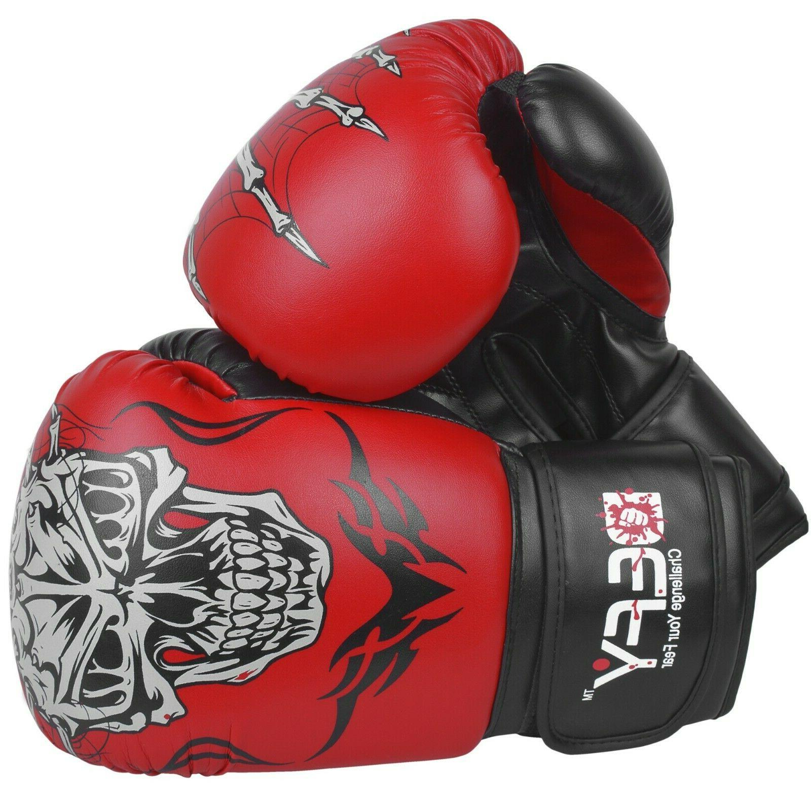 defy boxing gloves leather punch training sparring