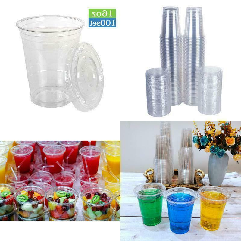 disposable 16 oz plastic cups with flat
