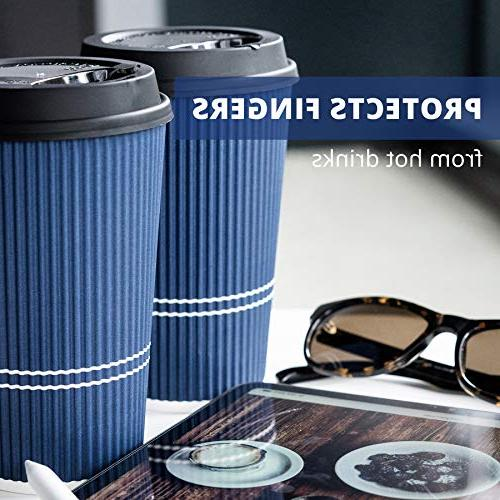 Glowcoast With Lids - oz Coffee Cup Cups Shape Hot No Cups Sleeves