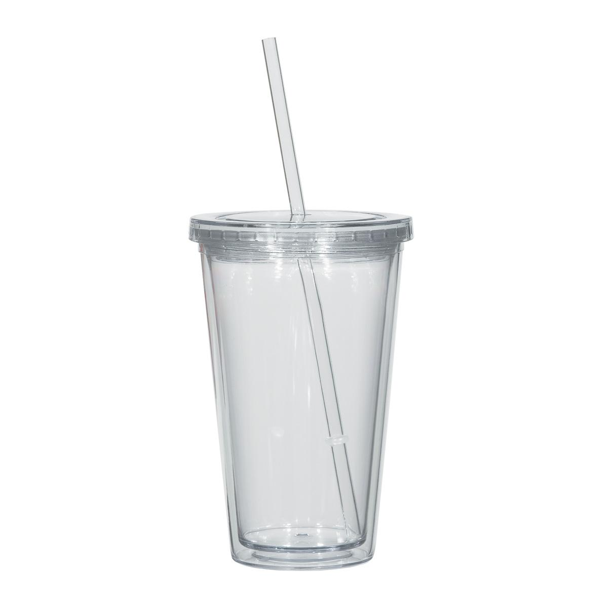 Double-Wall Plastic Tumblers with Lids oz. assorted color $5.79 FREE