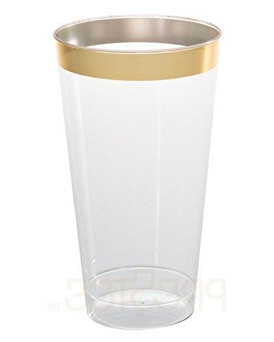 DRINKET 16 oz Cups Plastic Wedding With Gold Disposable For and Occasions SUPER VALUE PACK
