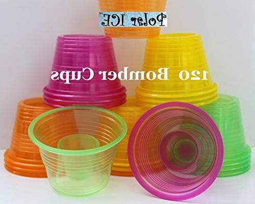 drinket gold plastic cups clear