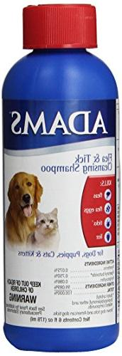 Adams Flea and Tick Control Cleansing Shampoo for Cats and D
