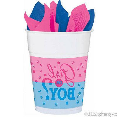 Gender Reveal 16oz Plastic Cups