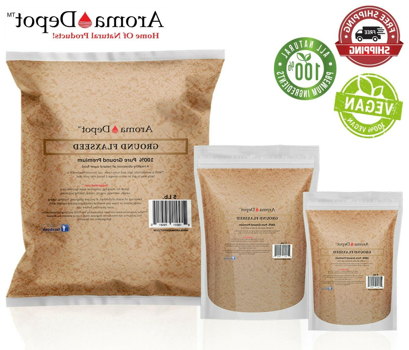 ground brown flax seed omega 3 non