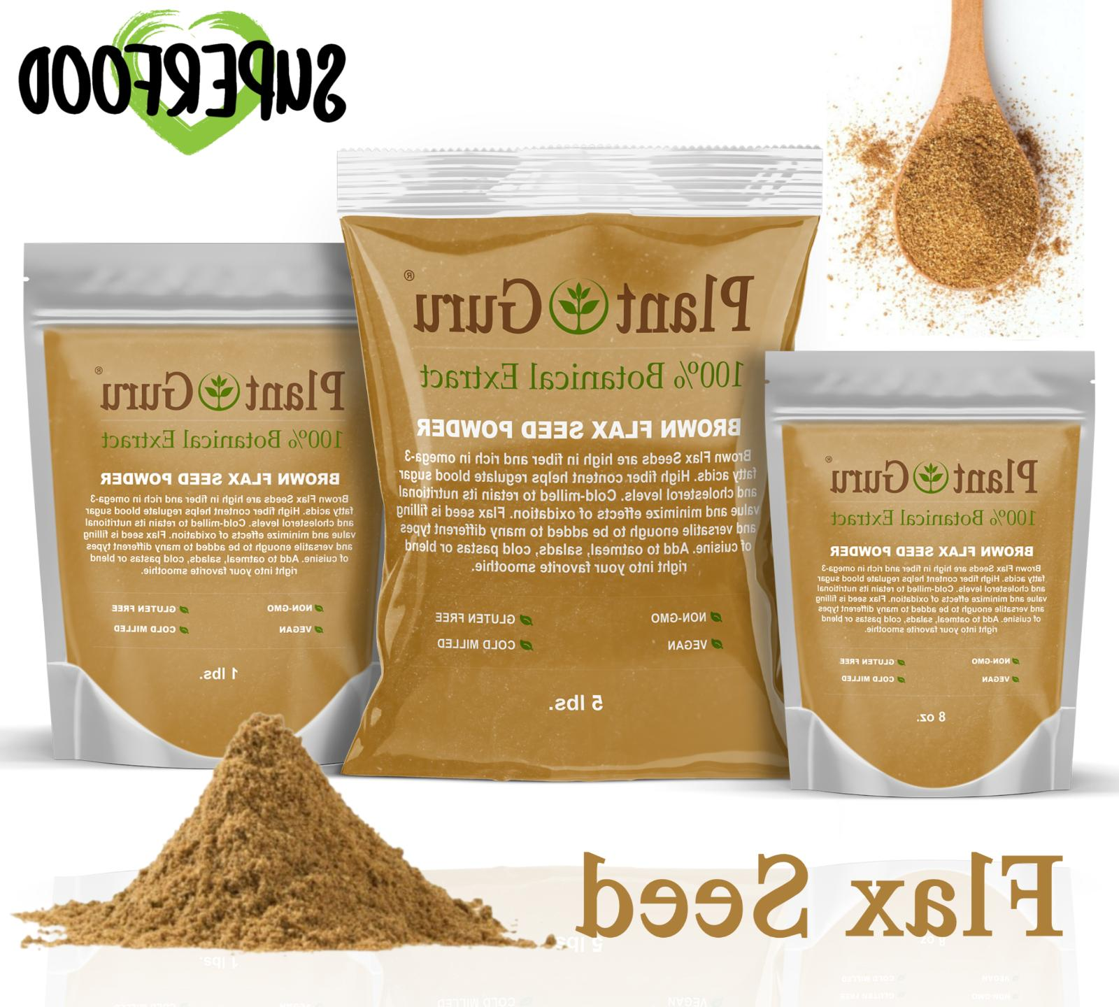 ground flax seed powder choose from brown