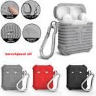 Hot Sale Silicone Case Cover w/ Carabiner For Apple Airpod A