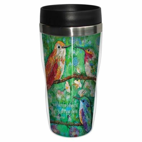 hummingbirds travel mug premium 16 oz stainless