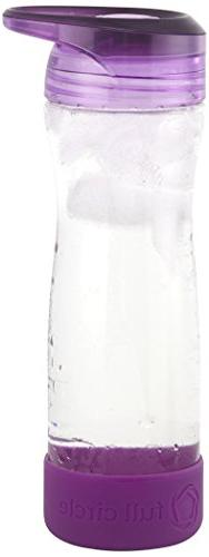 Full Circle Hydrate Mate 16-Ounce Glass Travel Water Bottle,