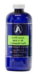 Iron Supplement with vitamin C by Angstrom Minerals 32 oz -