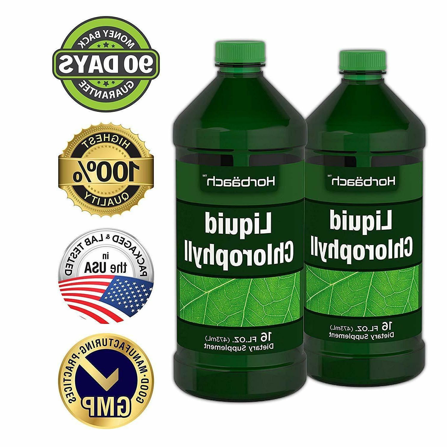 LIQUID CHLOROPHYLL 2 Pack 100 mg Energy Boost Support Superfood