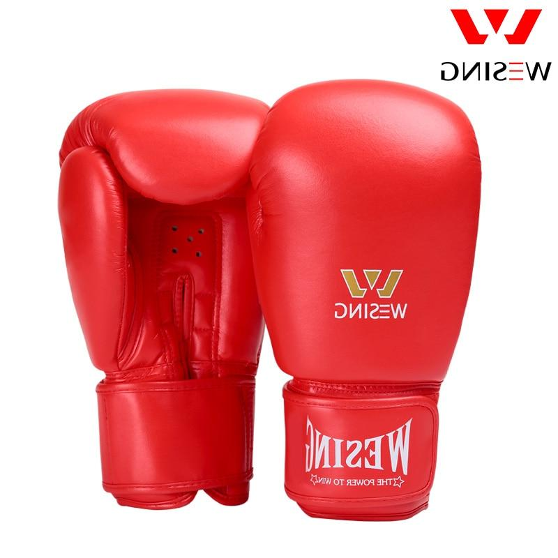Wesing Micro Boxing Adult Gloves Thai Red 8 10 <font><b>16</b></font>