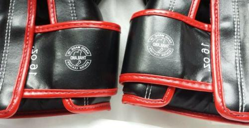 Fairtex Muay 16 oz boxing Black with Red &