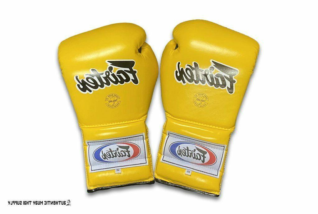 FAIRTEX BOXING RED YELLOW MEXICAN LACE