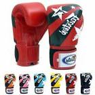 muaythai boxing gloves bgv1 nation print red