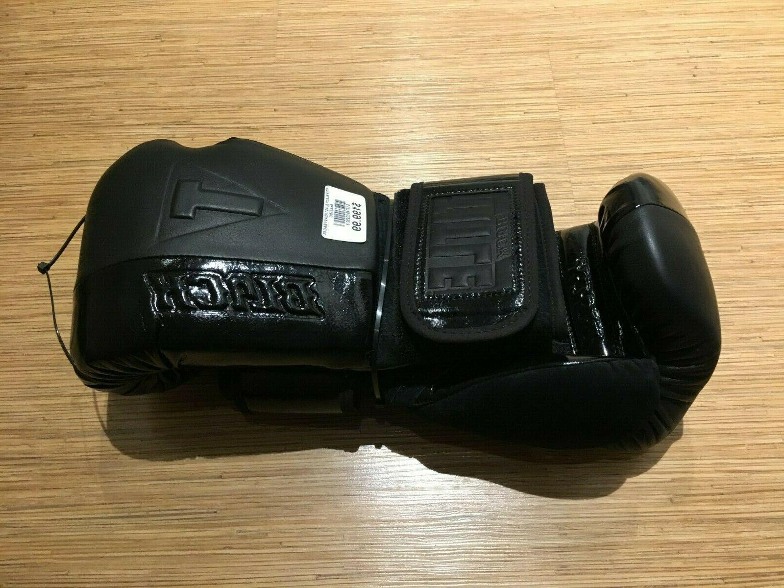 NEW 16 oz Title Boxing Black Blast Gloves $70 BELOW RETAIL W
