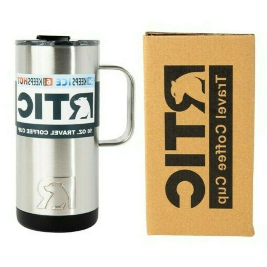 new 16oz travel coffee cup mug stainless