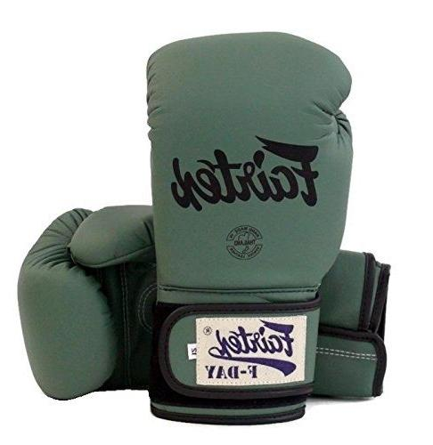 New Fairtex Muay Thai boxing gloves BGV11 F Day Military Gre