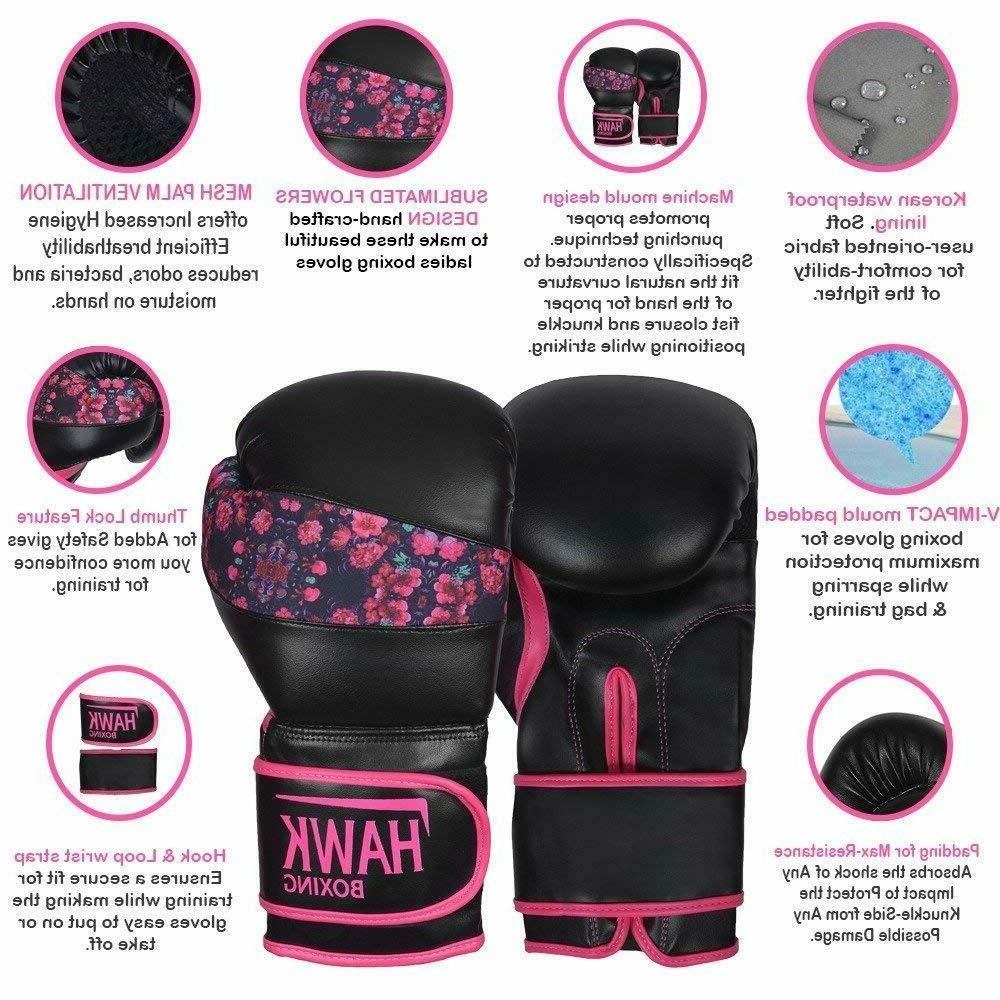 Pink Boxing Gloves Training Muay Bag